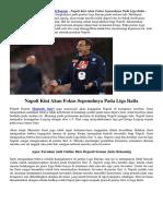 Napoli Kini Akan Fokus Sepenuhnya Pada Liga Italia