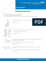 Ankle Strengthening Exercises Patient Information