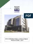 DHA Construction Development Regulations 2014