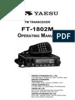 Yaesu FT-1802 Operating Manual