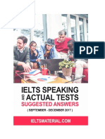 1ielts Speaking Actual Tests and Suggested Answers September