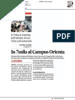 In 7mila al Campus Orienta - Il Corriere Adriatico del 22 febbraio 2018