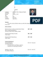 Mandarin Applicant Wysly Fu