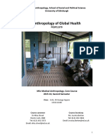 Anthropology of Global Health PGSP11379 2015-16