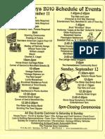 Victorian Days 2010 Schedule