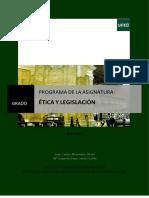 Programa Etica y Legislacion 2017-2018