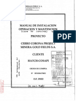 Manual de Apron Feeder y Chancado
