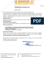 Cotización de Sistemas Cusco - Software de Monitoreo