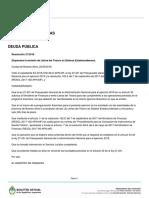 Vidal compra deuda al Gobierno nacional