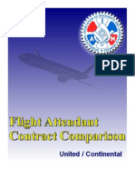 Contract Comparison United/Continental Flight Attendants