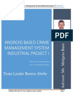 Android Based Crime Manage System Industrial Project I