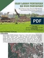Penggunaan Lahan Pertanian Ke Non Pertanian Cianjur