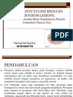 Doxycycline Oral Dapat Menurunkan Lesi Pterigium