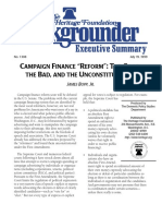 Campaign Finance Reform- The Good, The Bad, And the Unconstitutional
