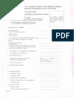 HAU Teaching Posts Application Form