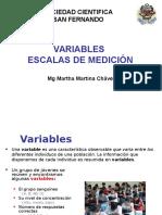 Variables Escalas