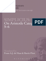 (Ancient Commentators on Aristotle) Fleet, Barrie_ Haas, Frans a. J. De_ of Cilicia Simplicius-On Aristotle's _Categories 5-6_-Bloomsbury Academic_Cornell University Press (2001)