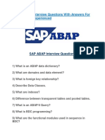 31 SAP ABAP Interview Questions With Answers for Freshers and Experienced