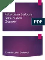 Kekerasan Berbasis Seksual Dan Gender