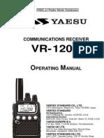 Yaesu VR-120D Operating Manual