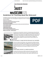 0.0. Guidelines for Teaching About the Holocaust — United States Holocaust Memorial Museum