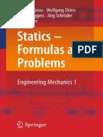 Formulas and Problems. Engineering Mechanics 1-Dietmar Gross, Wolfgang Ehlers, Peter Wriggers, Jörg Schröder, Ralf Müller-Statics -Springer (2017)