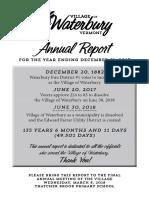 Waterbury Village Report 2017