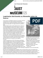 02.02. Legislação Anti-Semita na Alemanha antes da Guerra