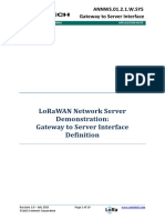 LoRa Gateway to Network Server Interface Definition
