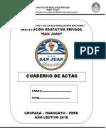 Cuaderno de Actas 2017