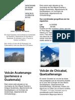 Volcanes y Montañas de Guatemala