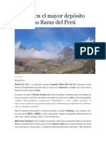 Descubren El Mayor Depósito de Tierras Raras Del Perú