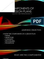 components of a lesson plan 2