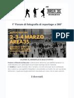 """Informazioni - """"1° Forum di fotografia di reportage a 360°"""""""