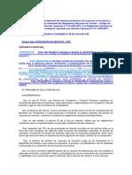 Reglamento Nacional Del Sistema de Emisión de Licencias de Conducir