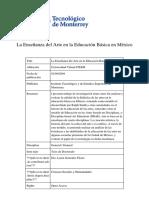 Tesis La enseñanza del arte e n la educacion básica en México.pdf