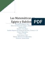 Las Matemáticas en Egipto y Babilonia