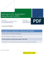 Managing the Application Lifecycle With MSDN