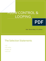 Modul 1 - Flow Control & Looping