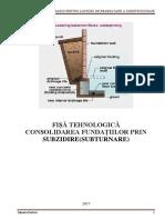 Tema - Consolidare Fundațiilor Prin Subzidire