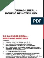 Ciudadd Lineal, Modelo de Hotelling