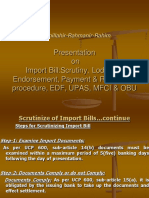 07. Import Bill, Scrutiny, Lodgement,