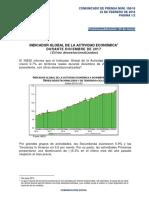 Indicador Global de la Actividad Económica durante Diciembre de 2017 (Cifras desestacionalizadas)