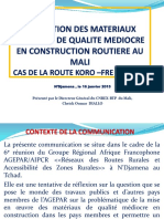 Sols de Qualite Mediocres Dans La Construction Au Mali (Cas Koro Fre Burkina)