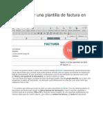 Cómo Hacer Una Plantilla de Factura en Excel
