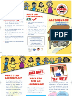 Earthquake Children Brochure