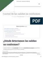 Control de Salidas No Conformes Para ISO 9001_2015