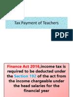 Tax Payment of Teachers