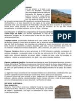 Tipos de Suelos y Rocas de Guatemala