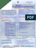 Programme Du Master FACG